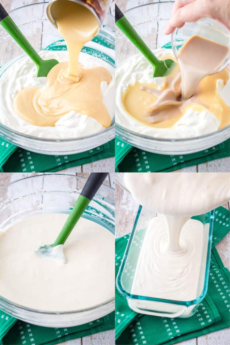 steps to make baileys ice cream