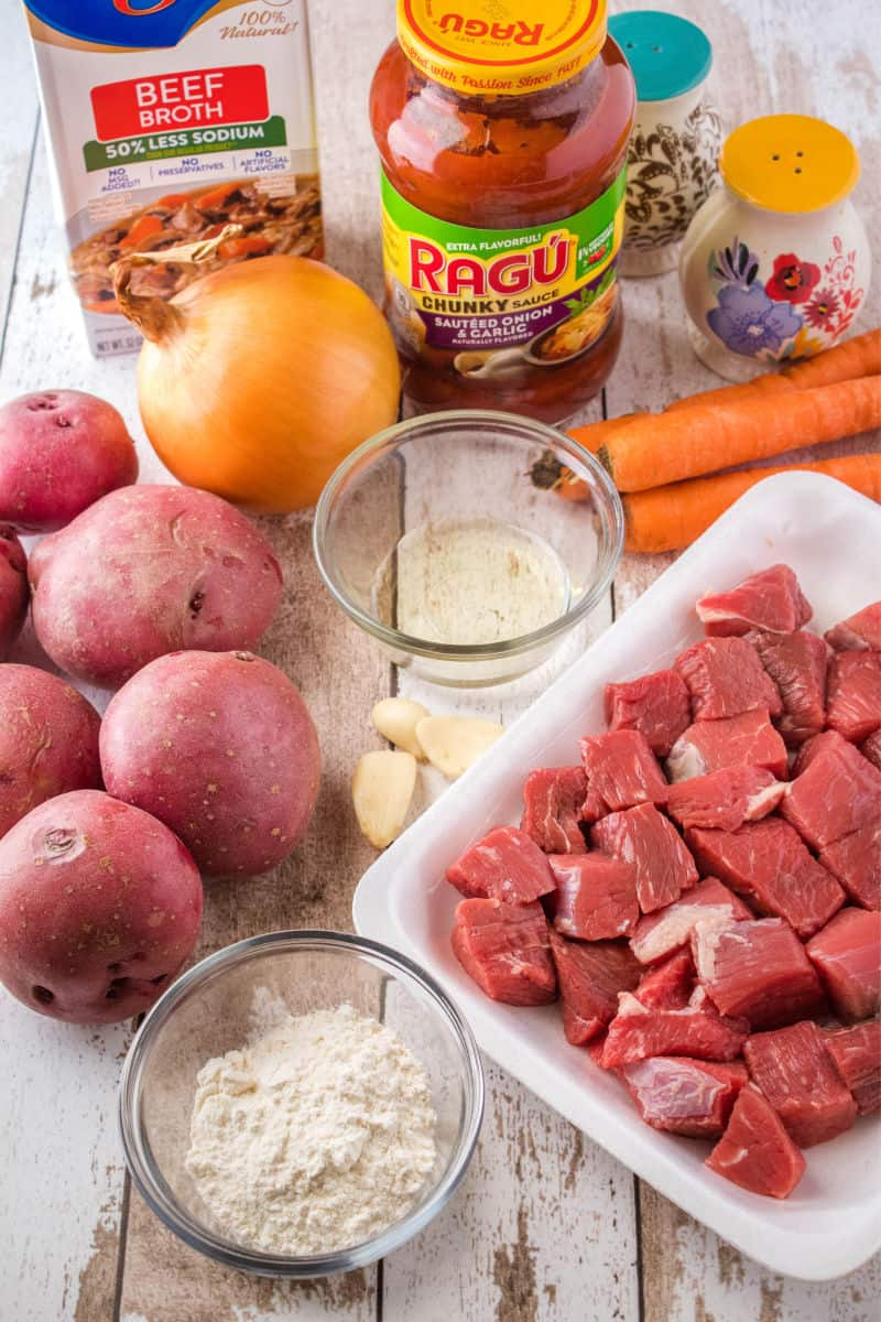 ingredients for tomato beef stew