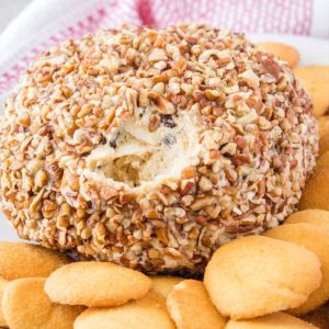 Ready to indulge? This Cookie Dough Cheese Ball will leave you dreaming about your next bite! Only 4 ingredients and OMG it's just so good!