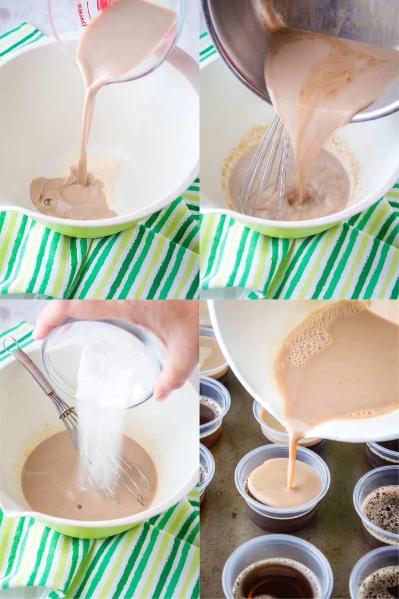 steps to make Irish cream jello