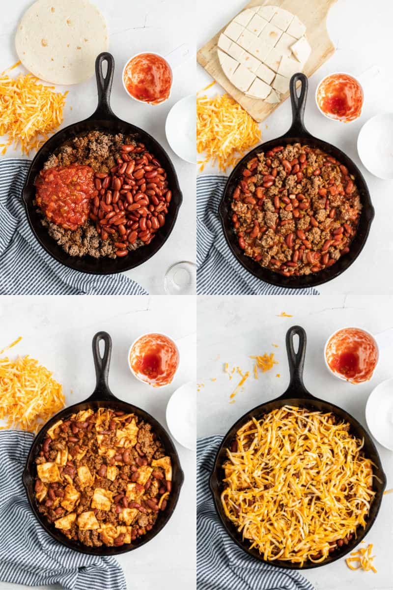 steps to make a burrito skillet