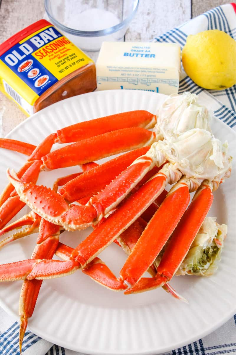 ingredients for boiling snow crab legs