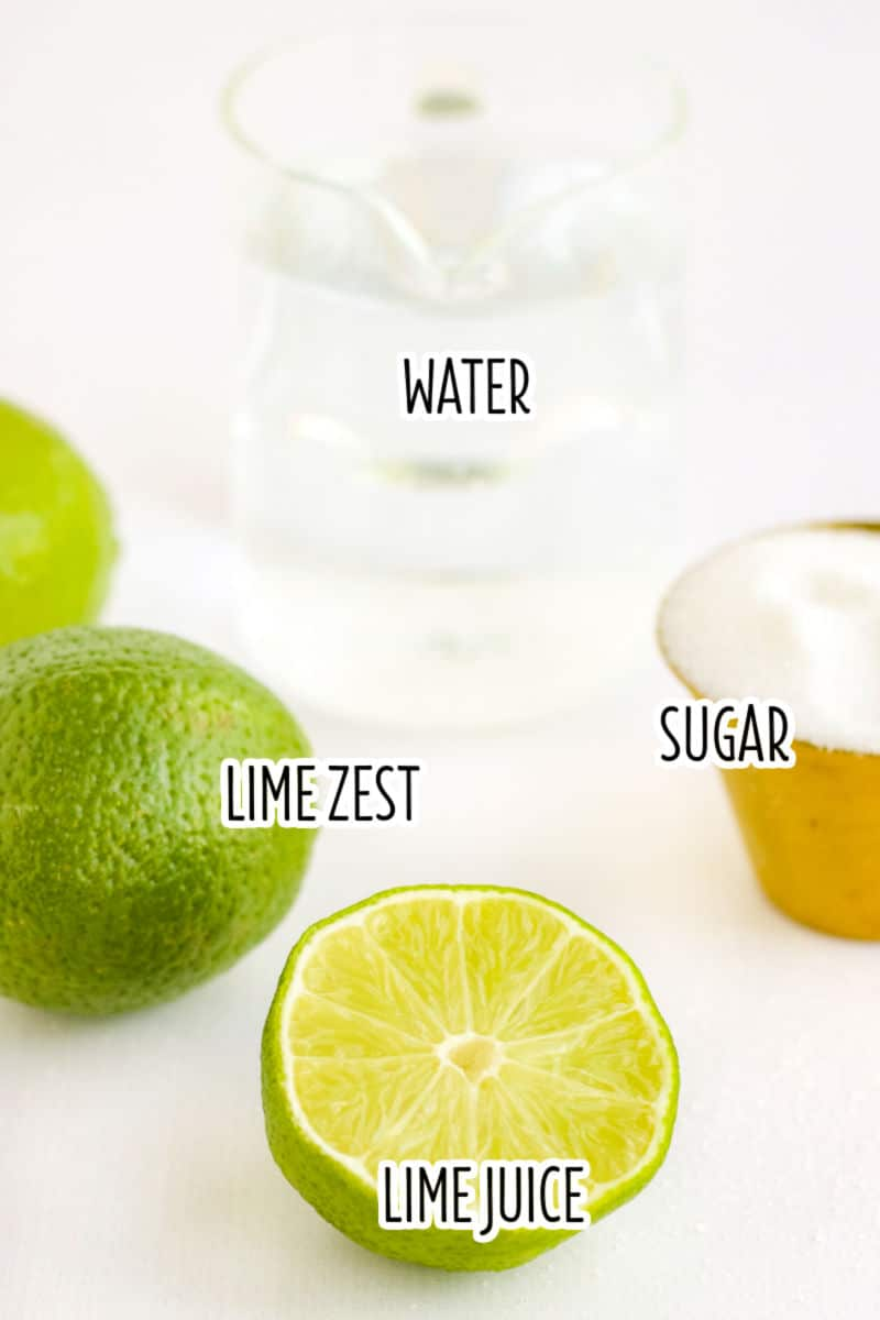 limeade popsicles ingredients with text lables
